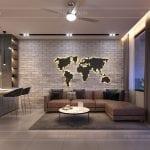 thiết kế nội thất nhà phố - tầng trệt phòng khách