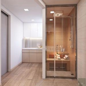 thiết kế nội thất spa hiện đại - phòng vệ sinh 2