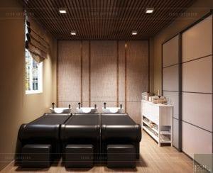 thiết kế nội thất spa hiện đại - phòng gội đầu 1
