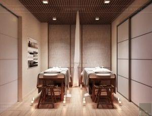 thiết kế nội thất spa hiện đại - phòng gội đầu 2
