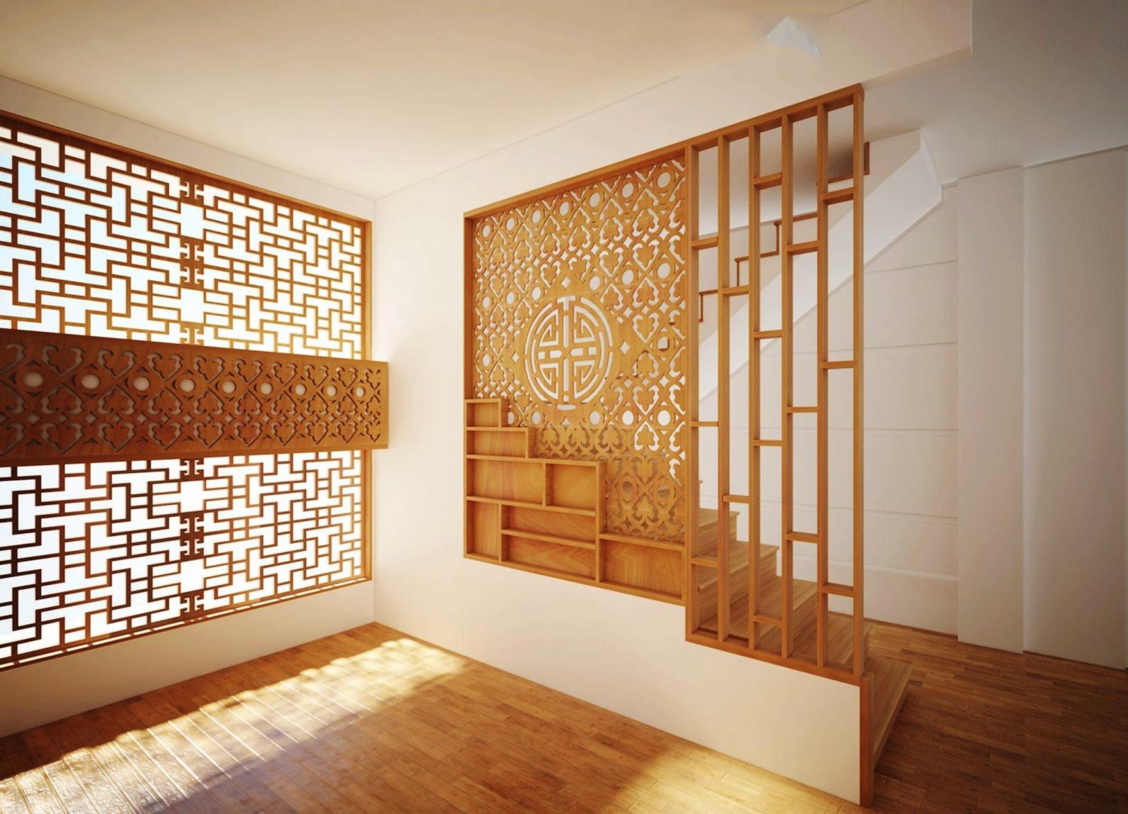 vách cnc gỗ trang trí