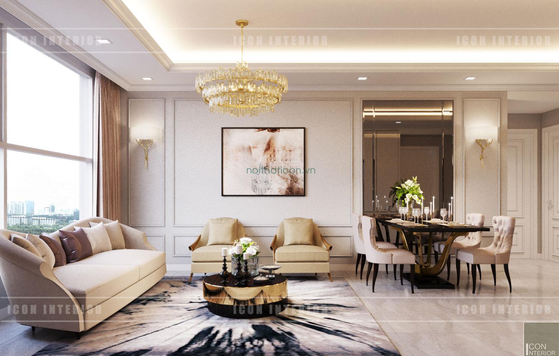 nội thất phòng khách neoclassic
