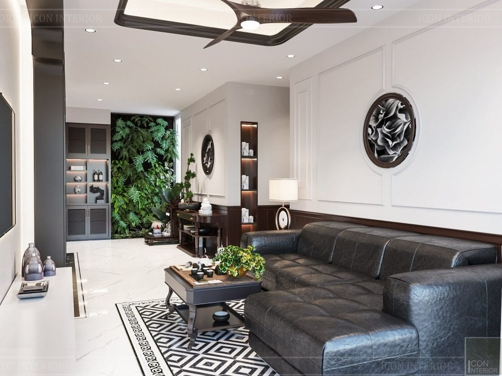 Phòng khách phong cách Zen