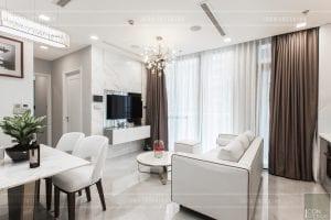 thi công nội thất căn hộ 2 phòng ngủ - phòng khách bếp 1