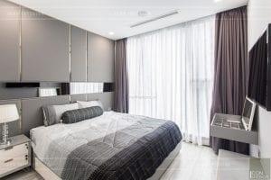 thi công nội thất căn hộ 2 phòng ngủ - phòng ngủ master 3