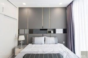 thi công nội thất căn hộ 2 phòng ngủ - phòng ngủ master 5