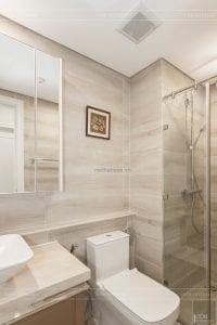 thi công nội thất căn hộ 2 phòng ngủ - phòng vệ sinh