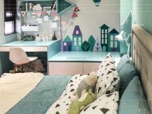 thi công nội thất trần anh riverside - phòng ngủ trẻ em 3