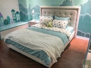 thi công nội thất trần anh riverside - phòng ngủ trẻ em 1