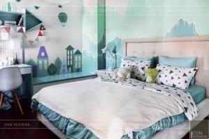 thi công nội thất trần anh riverside - phòng ngủ trẻ em 2