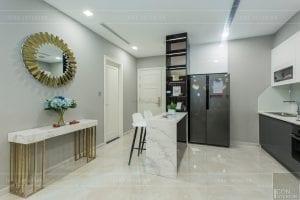 thi công nội thất chung cư hiện đại - phòng khách bếp 11
