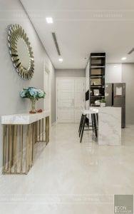 thi công nội thất chung cư hiện đại - phòng khách bếp 12