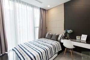 thi công nội thất chung cư hiện đại - phòng khách bếp 16