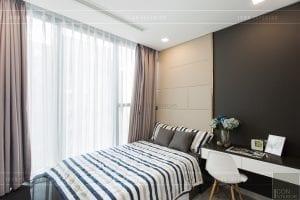 thi công nội thất chung cư hiện đại - phòng khách bếp 17