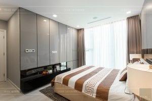 thi công nội thất chung cư hiện đại - phòng khách bếp 20