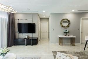 thi công nội thất chung cư hiện đại - phòng khách bếp 6