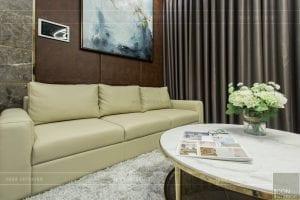 thi công nội thất chung cư hiện đại - phòng khách bếp 9