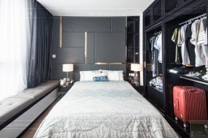 căn hộ 4 phòng ngủ vinhomes central park - thi công phòng ngủ 2