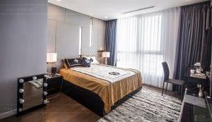 căn hộ 4 phòng ngủ vinhomes central park - thi công phòng ngủ master 1