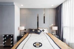 căn hộ 4 phòng ngủ vinhomes central park - thi công phòng ngủ master 2