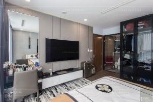 căn hộ 4 phòng ngủ vinhomes central park - thi công phòng ngủ master 3