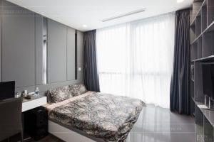 căn hộ 4 phòng ngủ vinhomes central park - thi công phòng ngủ 5