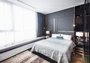 căn hộ 4 phòng ngủ vinhomes central park - thi công phòng ngủ 1