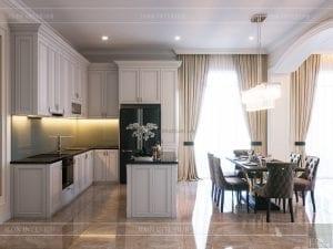 thiết kế biệt thự 2 tầng - phòng bếp 1