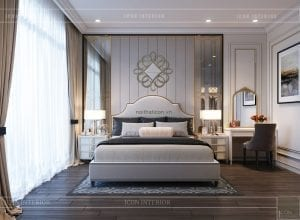 thiết kế biệt thự 2 tầng - phòng ngủ 2