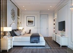thiết kế biệt thự 2 tầng - phòng ngủ 1