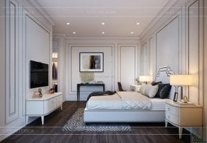 thiết kế biệt thự 2 tầng - phòng ngủ master 4