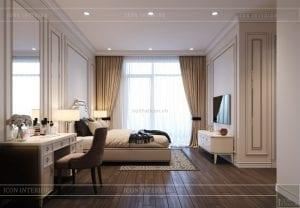 thiết kế biệt thự 2 tầng - phòng ngủ master 3