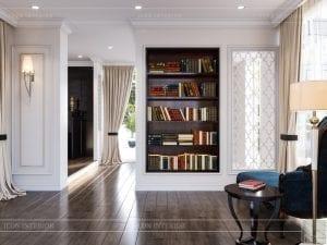 thiết kế biệt thự 2 tầng - phòng đọc sách 1