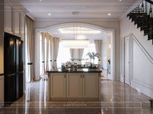 thiết kế biệt thự 2 tầng - phòng bếp 2