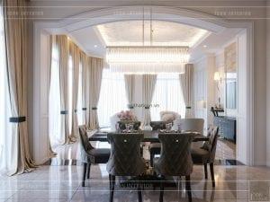thiết kế biệt thự 2 tầng - phòng ăn 2