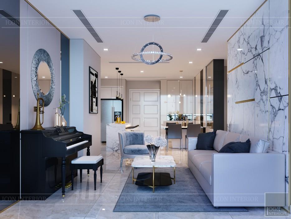 nội thất chung cư 2 phòng ngủ - phòng khách bếp 9