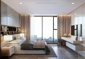 nội thất chung cư 2 phòng ngủ - phòng ngủ master 1