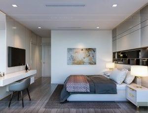 nội thất chung cư 2 phòng ngủ - phòng ngủ master 3