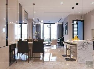 nội thất chung cư 2 phòng ngủ - phòng khách bếp 2