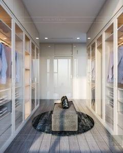 nội thất chung cư 2 phòng ngủ - phòng thay đồ master 4