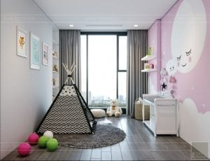 nội thất chung cư 2 phòng ngủ - phòng ngủ bé 2