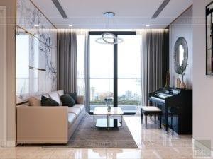 nội thất chung cư 2 phòng ngủ - phòng khách bếp 5