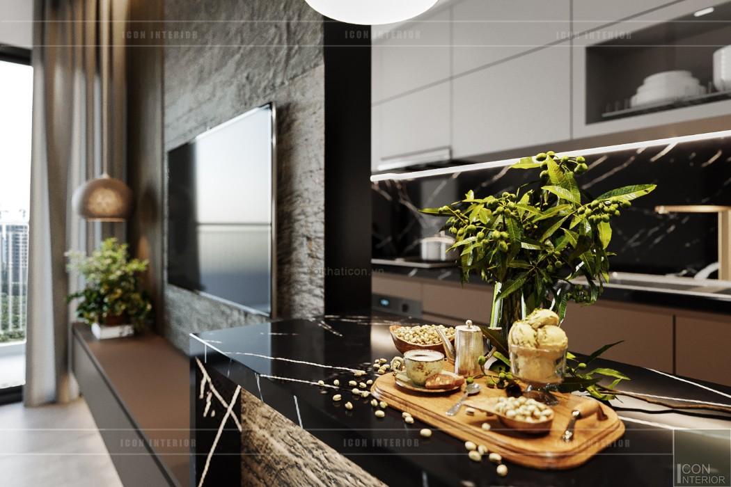 thiết kế nội thất căn hộ sunrise cityview - phòng bếp