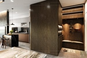 thiết kế nội thất căn hộ sunrise cityview - tiền sảnh