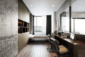 thiết kế nội thất căn hộ sunrise cityview - phòng ngủ nhỏ