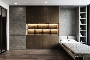 thiết kế nội thất căn hộ sunrise cityview - phòng ngủ nhỏ 1