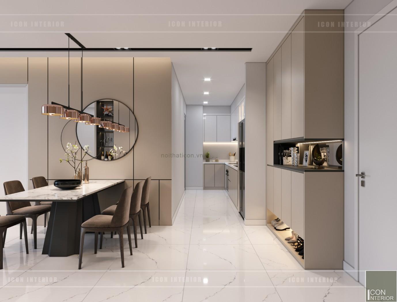 thiết kế nội thất căn hộ chung cư 90m2 - vinhomes tân cảng