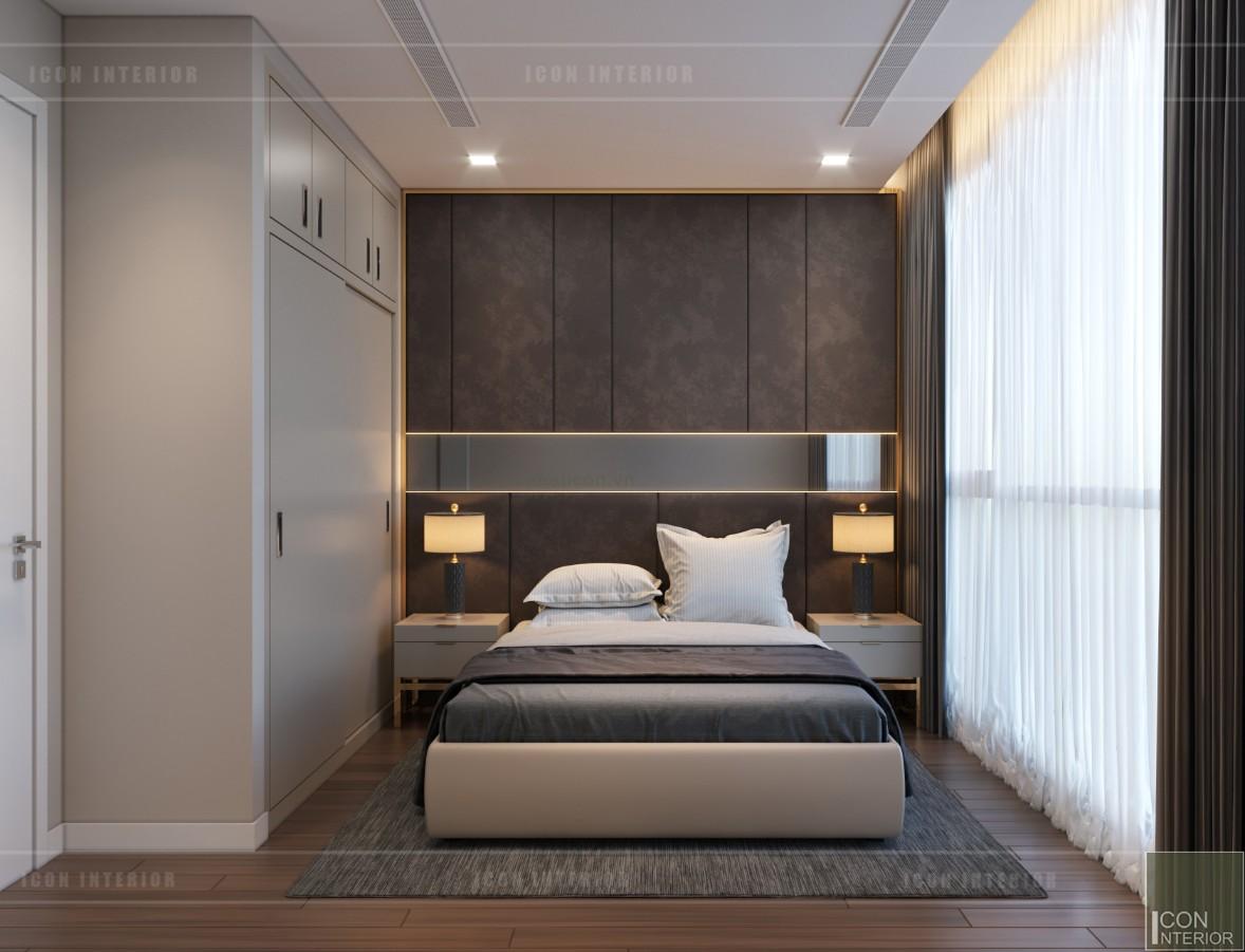 thiết kế nội thất căn hộ 90m2 phòng ngủ nhỏ