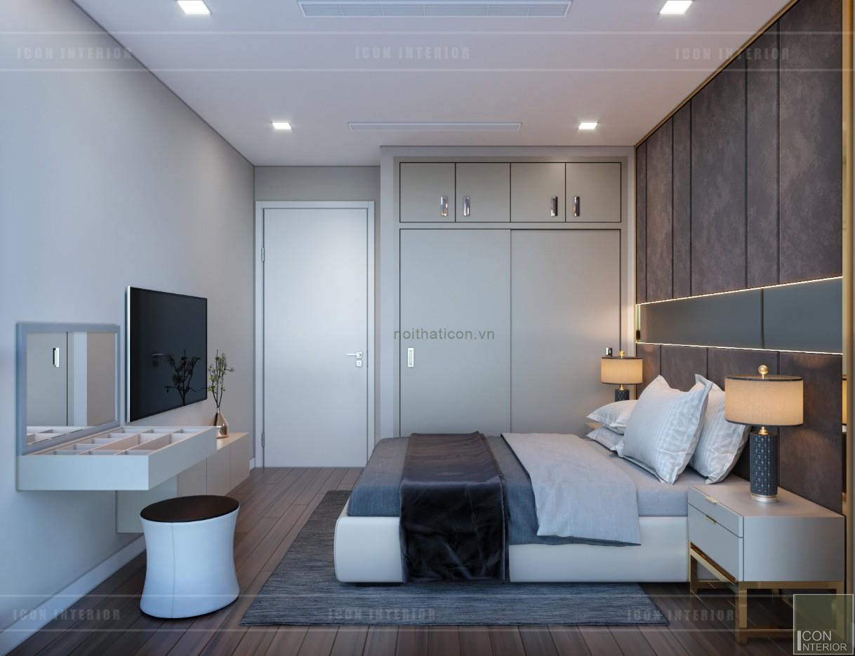 thiết kế nội thất căn hộ chung cư 90m2 - phòng ngủ