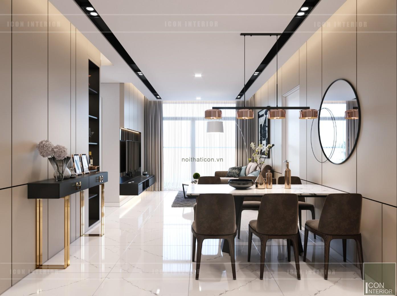 thiết kế nội thất căn hộ chung cư 90m2 - Vinhomes central park